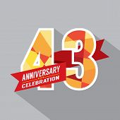 43rd Years Anniversary Celebration Design Vector. EPS 10 poster