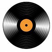 Retro vinyl Record for you. Vector illustration poster