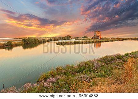 Lagoon Of Comacchio, Ferrara, Italy
