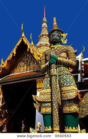 Giant guardian at Royal Palace Bangkok