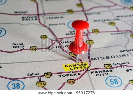 Kansan City Usa  Map