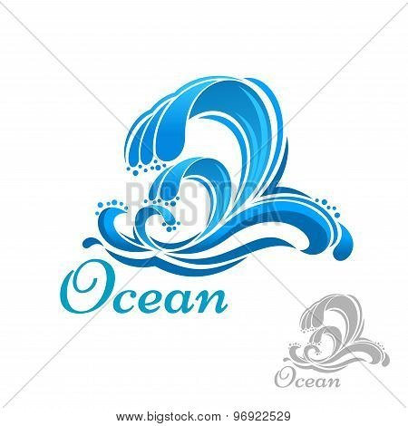 Sea wave or surf symbol