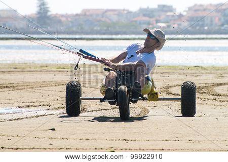 Ralph Irner Riding A Kitebuggy