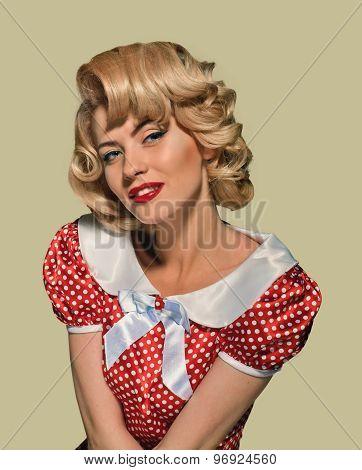 portrait retro pinup woman