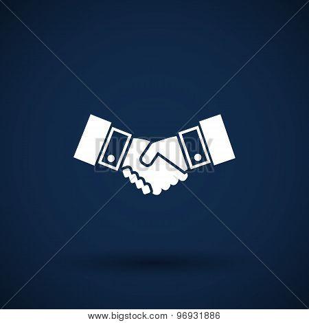 Handshake vector icon hake meeting business