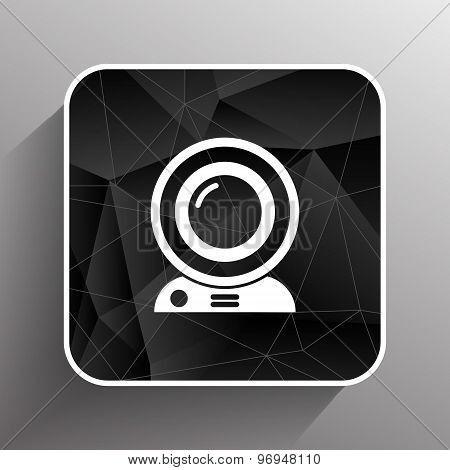 camera video icon web vector insight cam chat network. poster
