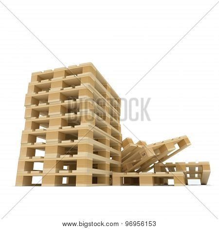 Pile of Euro pallets