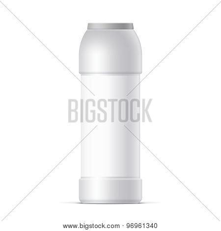 White Plastic Bottle. For Cleaning Powder