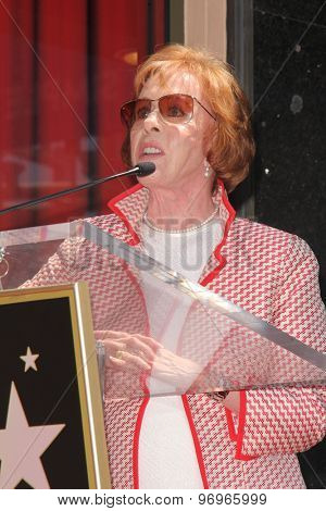 LOS ANGELES - JUL 24:  Carol Burnett at the Kristin Chenoweth Hollywood Walk of Fame Star Ceremony at the Hollywood Blvd on July 24, 2015 in Los Angeles, CA