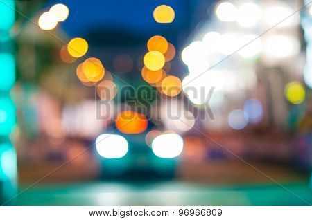 Blurred motion car traffic at night