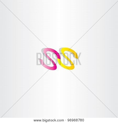 double letter s icon ss logotype design poster
