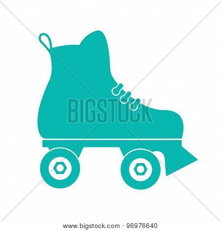 Roller skate on a white background. Icon