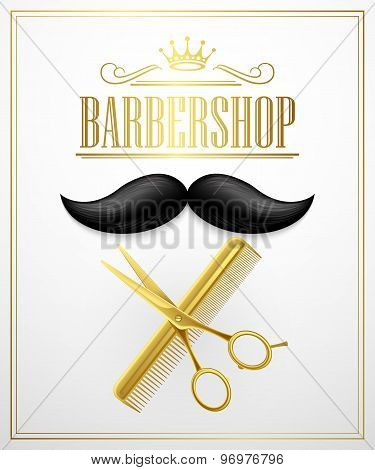 Poster Barbershop welcome. Vector Illustration