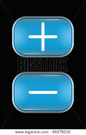Modern Glass Buttons Hig Low