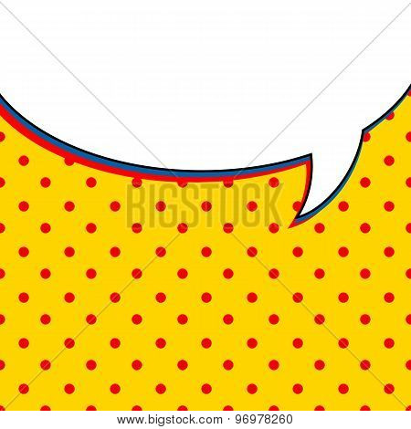 Comic talk bubble on yellow background