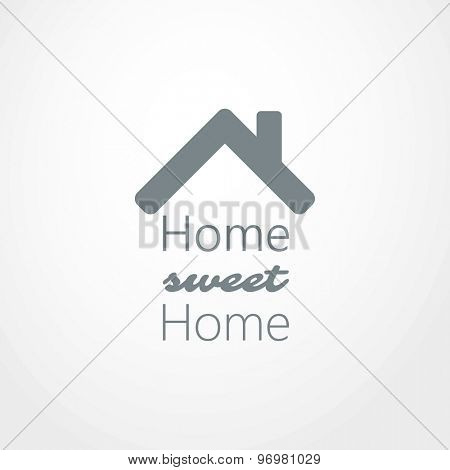 Home, sweet home text logo design