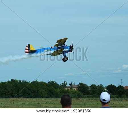 Thiene, Vicenza - Italy. 26Th July, 2015: Important Air Show Called Flighthiene In Thiene Airport Ne
