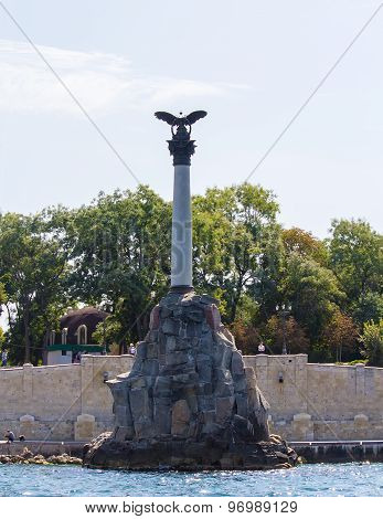 Monument To Scuttled Russian Ships of Sevastopol.Crimea