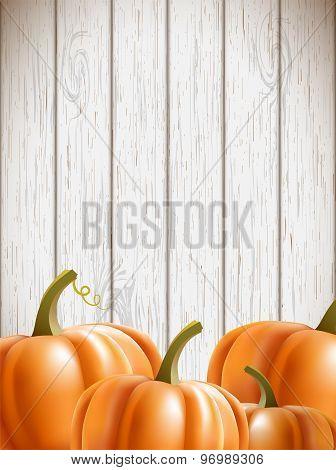 Background Wit Orange Pumpkins