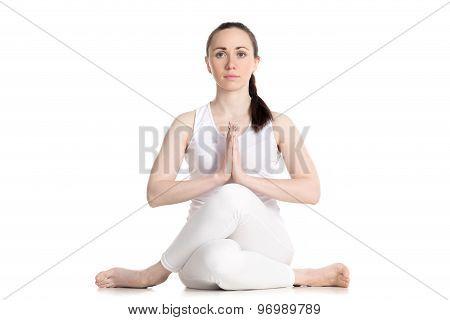 Cow Face Yoga Pose