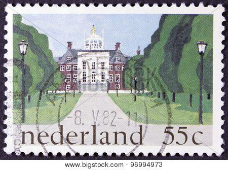 Royal palace on a postage stamp.