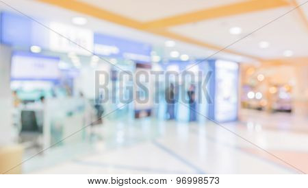 Image Of Big Retail Shop Blurred Background .