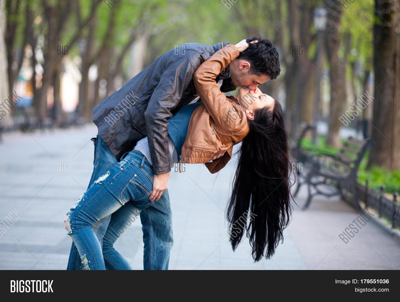 Couple kissing cute
