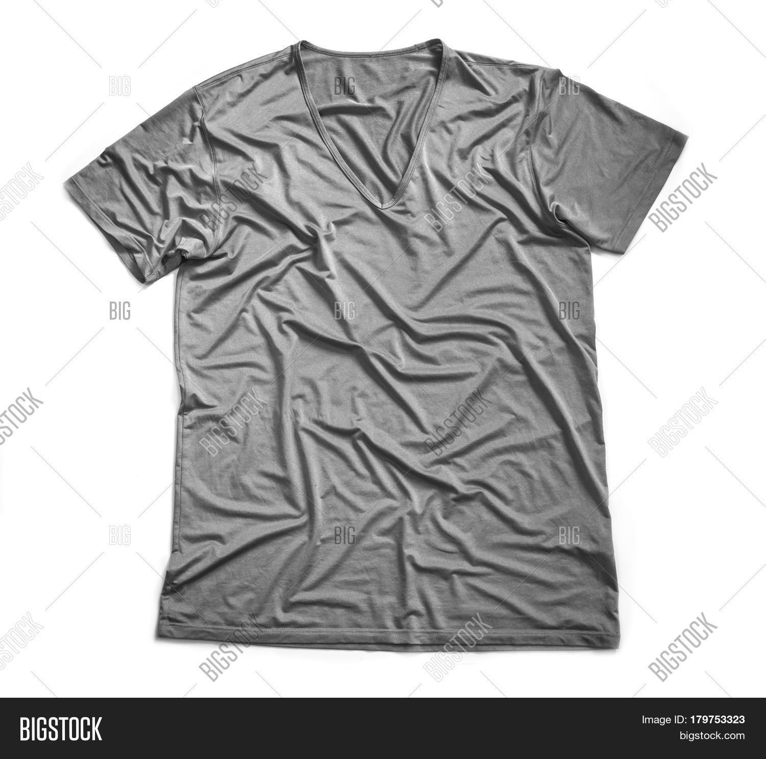 cf2cca62e Gray Wrinkled T-shirt Image & Photo (Free Trial) | Bigstock