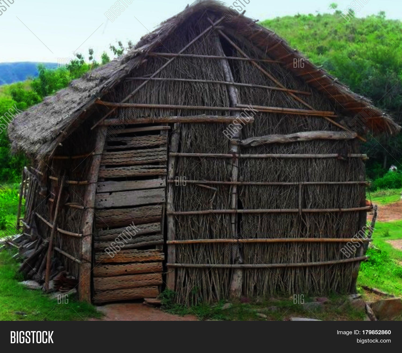 Stick Hut. Simple House Made Sticks Image & Photo | Bigstock House Made Of Sticks Cartoon