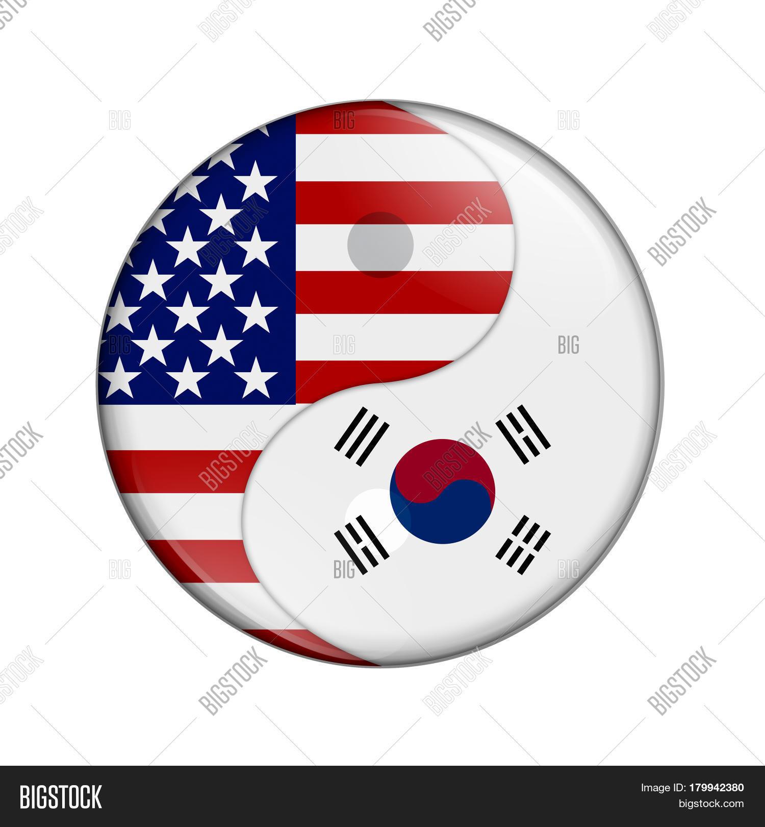 Usa south korea working together us image photo bigstock usa and south korea working together the us flag and south korean flag on a yin buycottarizona Choice Image
