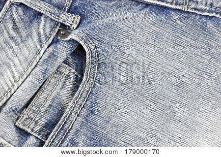 close up on blue denim jeans texture
