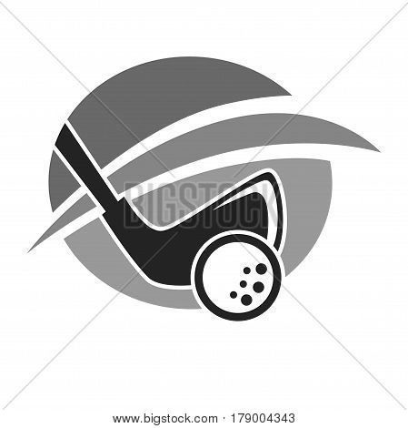 Golf club vector logo template for country sport golfer players. Icon for tournament, championship or membership