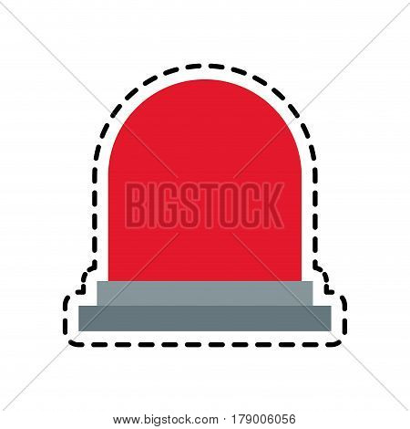 Siren device icon over white background. colorful design. vector illustration
