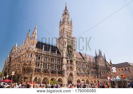 Karlsplatz Stachus And Landgericht Munchen I In Munich, Bavaria, Germany.