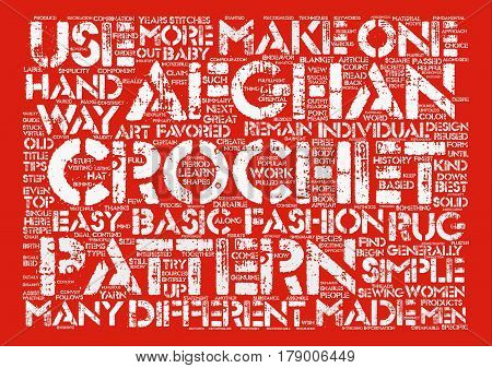 Simple Afghan Crochet Patterns Remain the Best Choice text background word cloud concept