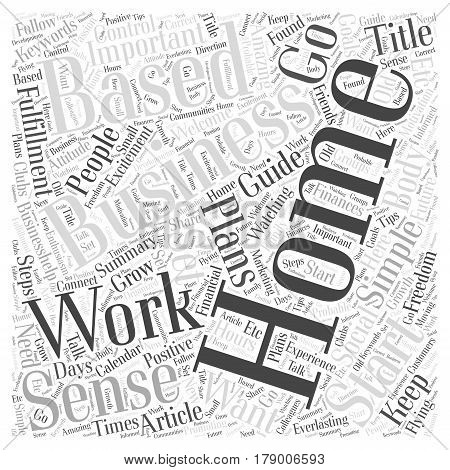 Simple guide to start your Home Based Business Word Cloud Concept