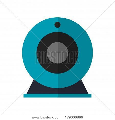 web cam device icon over white background. colorful design. vector illustration
