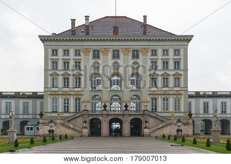 The Nymphenburg Palace Is A Baroque Palace In Munich, Germany.