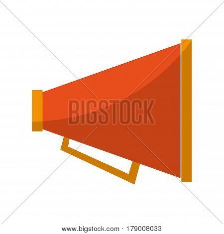 megaphone device icon over white backgorund. colorful design. vector illustration