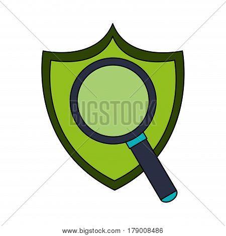 antivirus shield icon image vector illustration design