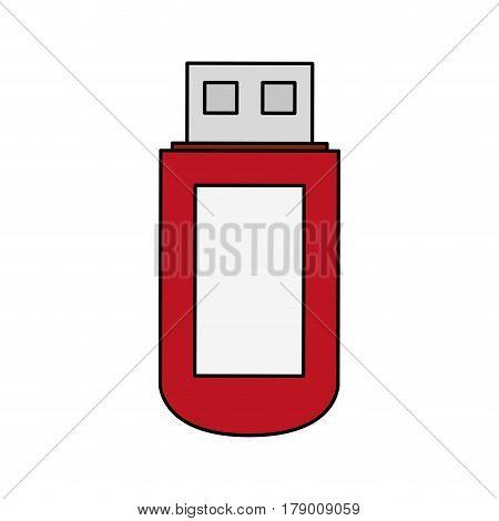 usb drive icon image vector illustration design