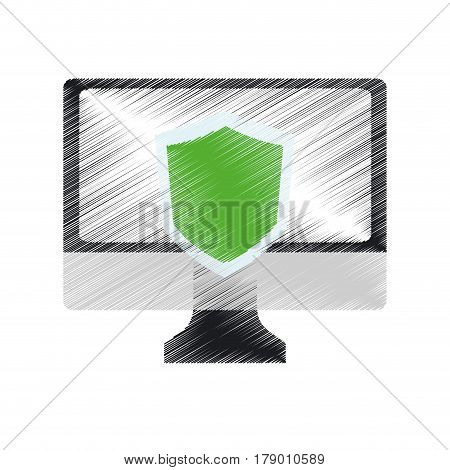 computer antivirus icon image vector illustration design