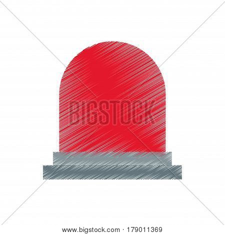 siren or beacon icon image vector illustration design