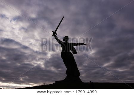 monument of Native land-mother in Volgograd motherland