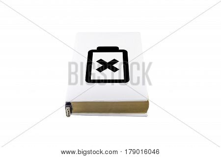 White Book Cover And Battery Symbol