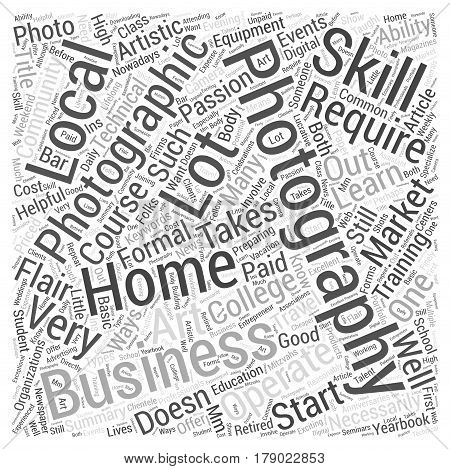 Starting a Home Business In Photography Word Cloud Concept