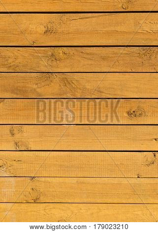 Background is a wall of brown wooden planks. Texture.