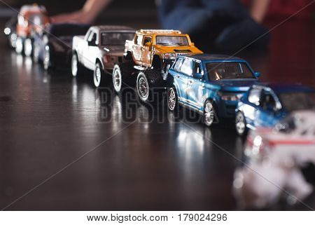 Traffic Jam Of Toy Cars,