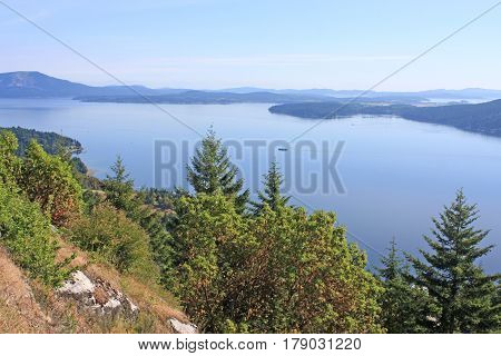 Saanitch inlet and coast of Vancouver Island