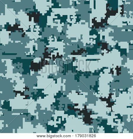 Digital pixel city gray camouflage seamless patterns. Texture textile Illustration